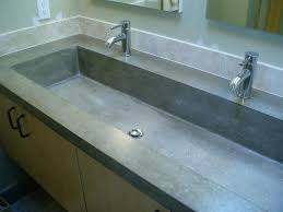 Bathroom Trough Sink Bathroom Double Sink Vanity Ideas White Finish Stained Concrete