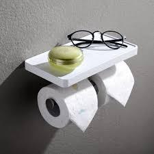 amazon com doxwater f30311 toilet paper holder with shelf white