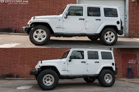 modified white jeep wrangler eibach all terrain lift kit jeep wrangler jk suspension review