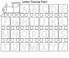 the country cheapskate letter tracing train activity free