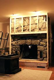 how to cover your fireplace with wood build out insert fake stone