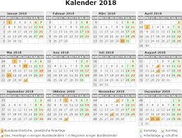 Kalender 2018 Hamburg Feiertage Kalender 2018 Zum Ausdrucken Kostenlos