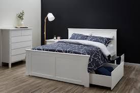queen size bed storage white modern b2c furniture