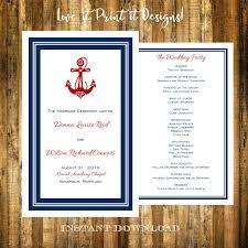 nautical wedding programs 29 nautical wedding templates editable psd ai format