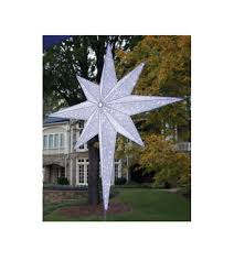 lighted tree topper 48 led lighted white and silver moravian commercial christmas