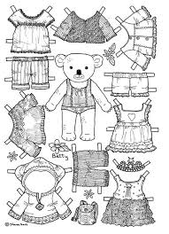 mary engelbreit coloring pages bear paper doll coloring page would be cute to use for a
