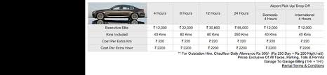 audi a4 service cost india luxury car rental services india rent car in mumbai dehi