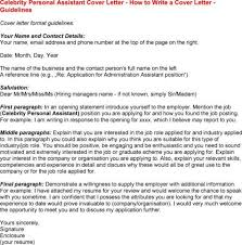 celebrity personal assistant cover letter
