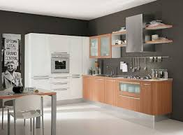 modern white kitchen cabinet doors dark brown wooden countertop