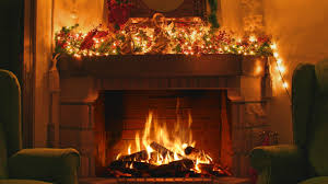 interesting design christmas fireplace screen bright burning long