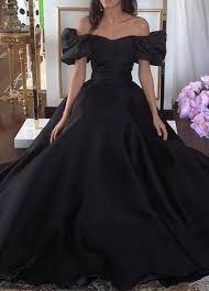 2017 gothic black wedding dresses off the shoulder puffy short