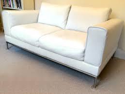 white leather 2 seater sofa white leather sofa ikea arild 2 seater immaculate in