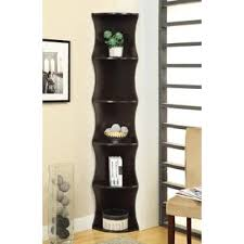 Black Corner Bookcase Corner Bookcases You Ll Wayfair