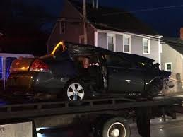 crash leaves car wedged under coventry home driver charged wpri
