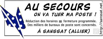 connaitre bureau de poste sanssat en bourbonnais service postal en danger