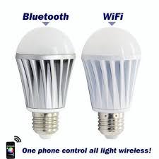 new wifi bluetooth controlled led color smart light bulb 7w e27