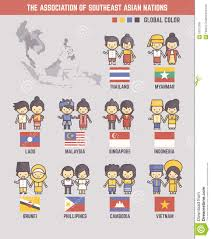 Southeast Asia Flags The Association Of Southeast Asian Nations Cartoon Characters