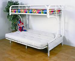 White Bunk Bed With Trundle Bedroom Striking Appearance Metal Bunk Beds Twin Over Full