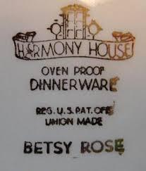 harmony house betsy smith betsy china replacements