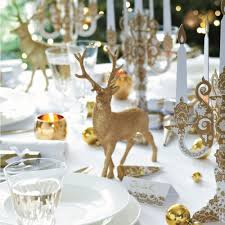 Reindeer Decoration Gold Reindeer Christmas Table Decoration Yumbles Com