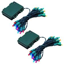 lumabase 9 5 ft 25 light multi color battery operated string