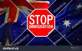 stop australian immigration illegal immigrationaustralian flag