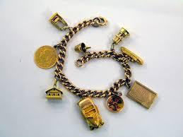 solid silver charm bracelet images Vintage solid silver charm bracelet c 1930 coin car boat jpg