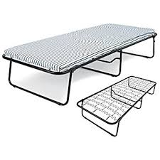 Folding Bed With Mattress Folding Single Guest Bed With Mattress Amazon Co Uk Kitchen U0026 Home