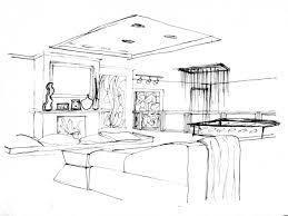 room sketch interior design