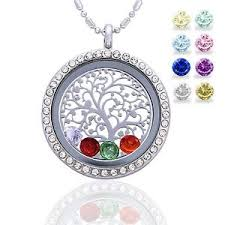 s day necklace with birthstone charms mothers day gift family tree of birthstone necklace pendant