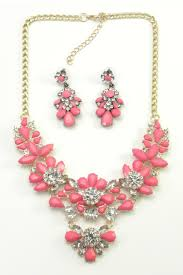 pink necklace set images Mimi 39 s gift gallery hot pink necklace set from kentucky shoptiques jpg