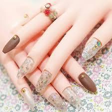 nails ballerina nails coffin nails matt nails 24k gold