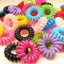 wholesale hair accessories aliexpress buy 30pcs mulit color telephone wire cord girl