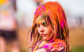 festival of colors sweet child close up hd wallpaper