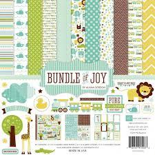 12x12 Scrapbook Echo Park Bundle Of Joy Baby Boy 12x12 Scrapbook Collection