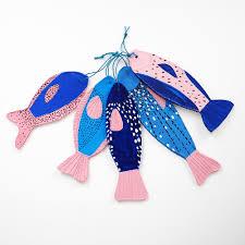 hello wonderful diy painted clay fish