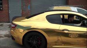 custom maserati granturismo convertible full wrap in gold chrome maserati granturismo mc stradale youtube