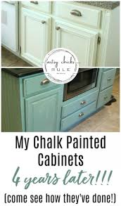 how to freshen up stained kitchen cabinets my chalk painted cabinets 4 years later how did they do