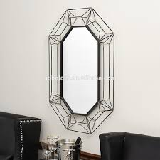 Large Decorative Mirrors Wall Hanging Large Metal Wire Frame Wall Mirror 3d Design Home