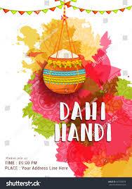 creative illustrationposter flyer indian festival janmashtami