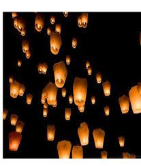 lantern kites krishti multi color saucer s flying sky lantern at rs 16