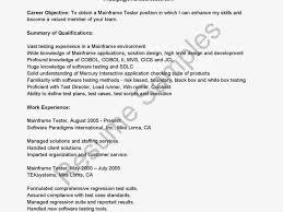 Qa Tester Resume Sample by Mainframe Tester Resume Sample Fashionable Ideas Mobile Testing