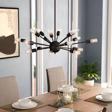 sputnik chandelier an iconic design for more than 50 years langley street weiss 18 light sputnik chandelier reviews wayfair