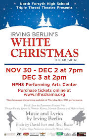 irving berlin s white by forsyth high school
