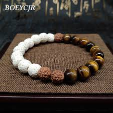 bracelet fashion men images Boeycjr white lava rocks natural stone bodhi beads bangles jpg