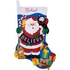 design works felt applique kit believe stocking felt crafts