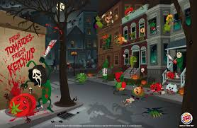 halloween in the city print advert by veg city halloween ads of the world