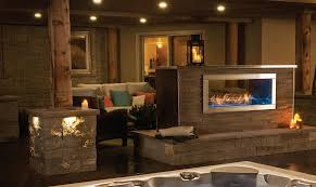 napoleon galaxy see thru outdoor gas fireplace gss48st