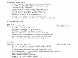 100 server skills for resume esl application letter