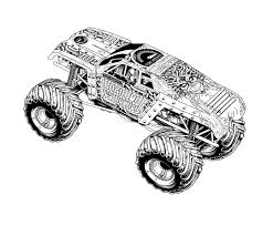 huge powerful monster truck coloring page free coloring pages online